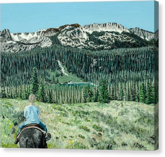 First Ride Canvas Print