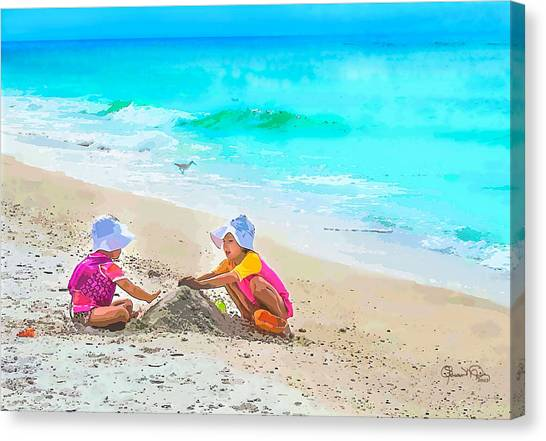 First Sand Castle Canvas Print