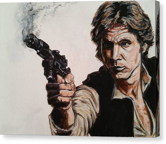 First Shot - Han Solo Canvas Print