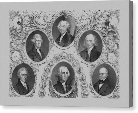 Thomas Jefferson Canvas Print - First Six U.s. Presidents by War Is Hell Store
