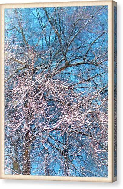First Snow At Dawn Canvas Print
