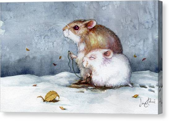 Snow Canvas Print - First Snow by Janet Chui