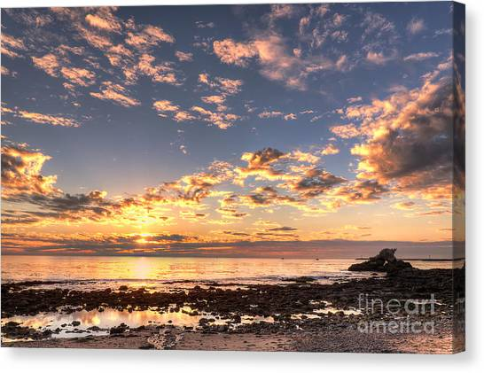 First Sunset Of 2013 Canvas Print