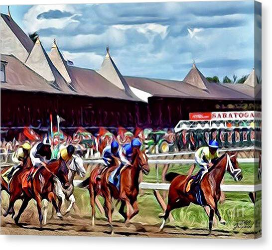 First Turn Saratoga Canvas Print