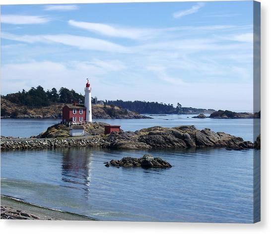 Fisgard Lighthouse Shoreline Canvas Print