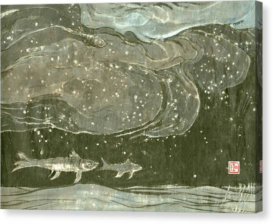 Underwater Caves Canvas Print - Fish - 1 by River Han