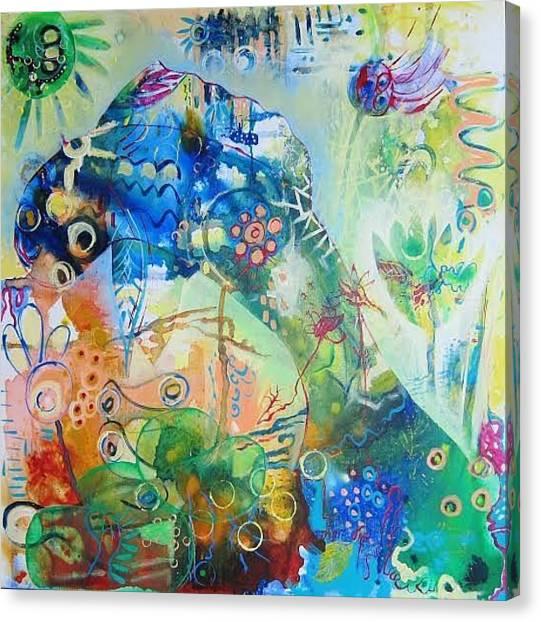 Seahorses Canvas Print - Seahorse Folly by Susan Curtin