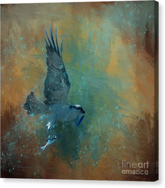 Osprey Canvas Print - Fish Day by Marvin Spates