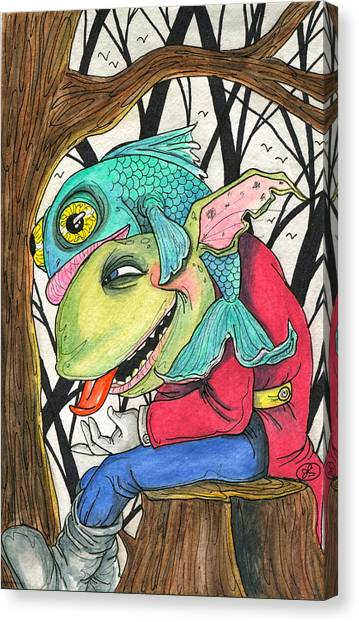 Fish Face Canvas Print
