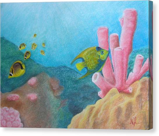 Fish Garden Canvas Print