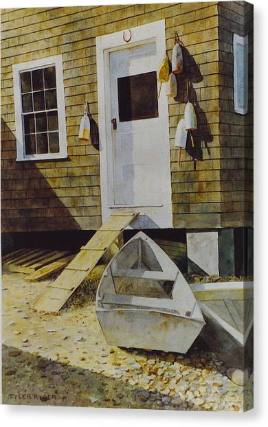 Fish House Monhegan Canvas Print
