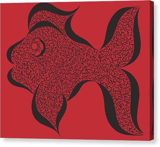 Fish Maze Canvas Print - Fish Maze by Mallory Westlund