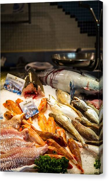 Canvas Print featuring the photograph Fish Market by Jason Smith