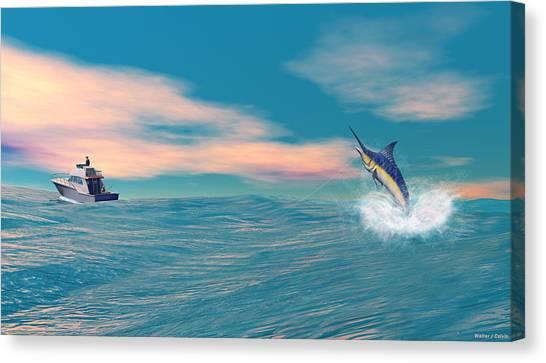 Fish On Canvas Print