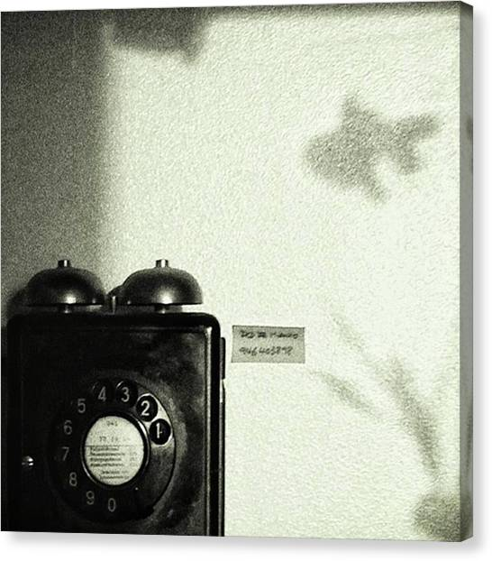 Fish Canvas Print - Fish Phone #telephone #fish #shadow by Rafa Rivas