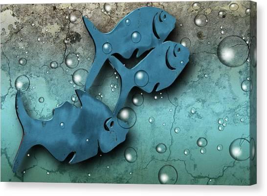Fish Wall Canvas Print