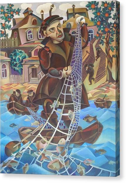 Fisherman Canvas Print by Andrey Soldatenko