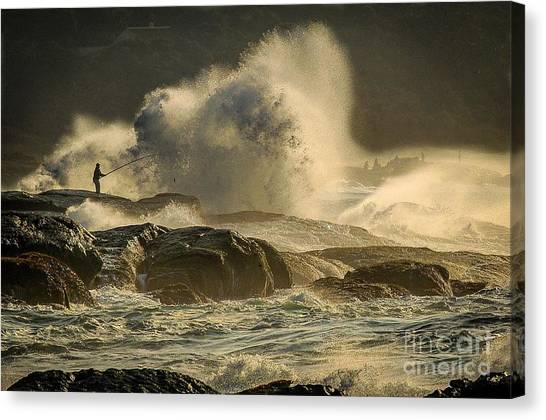 Fisherman Splash Canvas Print