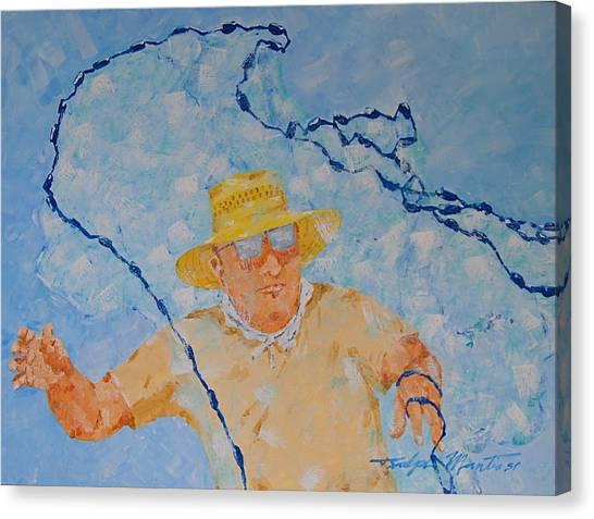 Fishermans Bait Cast Canvas Print