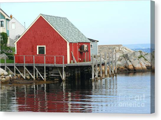 Fishermans House On Peggys Cove Canvas Print