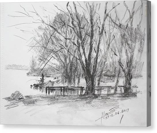 Landscape Canvas Print - Fisherman's Park by Ylli Haruni