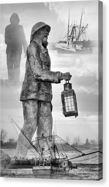 Fishermen - Jersey Shore Canvas Print