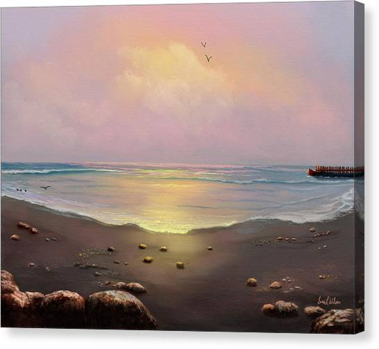 Fishermen's Cove Canvas Print by Sena Wilson