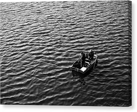 Canvas Print featuring the photograph Fishing by Adrian Pym