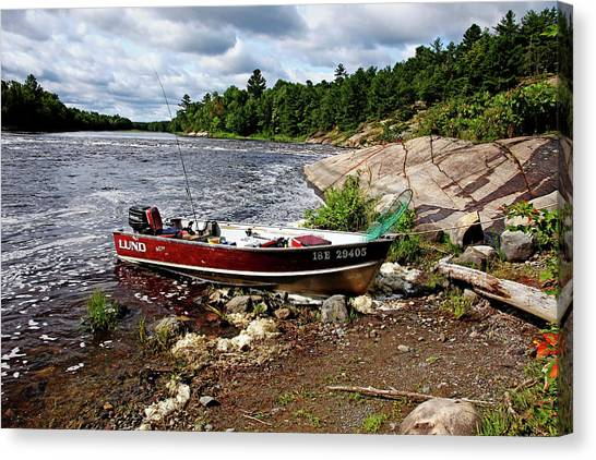 Fishing And Exploring Canvas Print