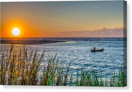 Fishing At Pawleys Canvas Print