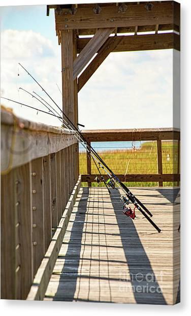 Fishing At Shem Creek Canvas Print