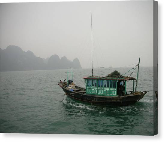 Fishing Boat In North Vietnam Canvas Print