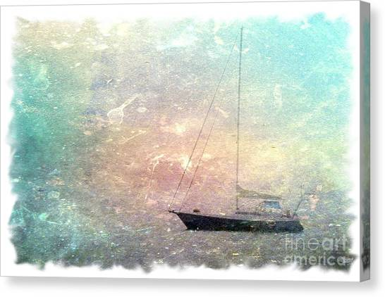 Fishing Boat In The Morning Canvas Print