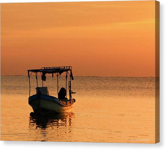 Fishing Boat In Waiting Canvas Print