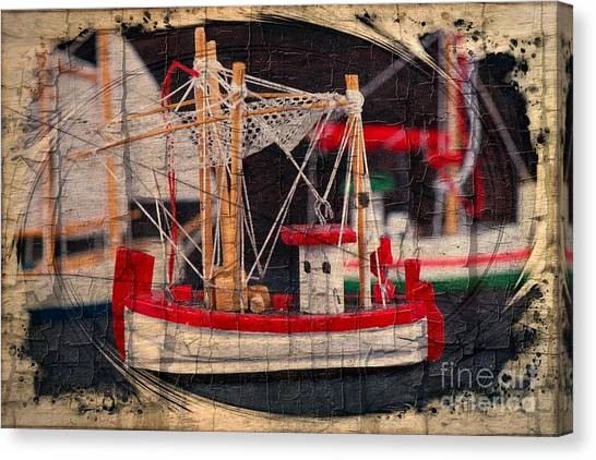 Canvas Print featuring the photograph Fishing Boat by Michael Moriarty