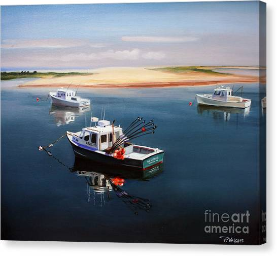 Fishing Boats Canvas Print - Fishing Boats-cape Cod by Paul Walsh
