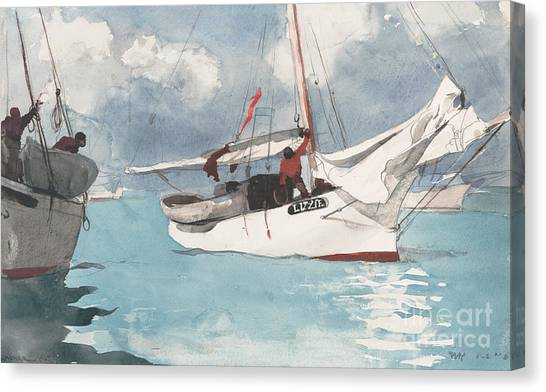 Winslow Canvas Print - Fishing Boats, Key West, 1903 by Winslow Homer