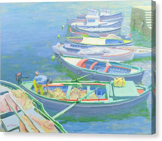 Boat Canvas Print - Fishing Boats by William Ireland