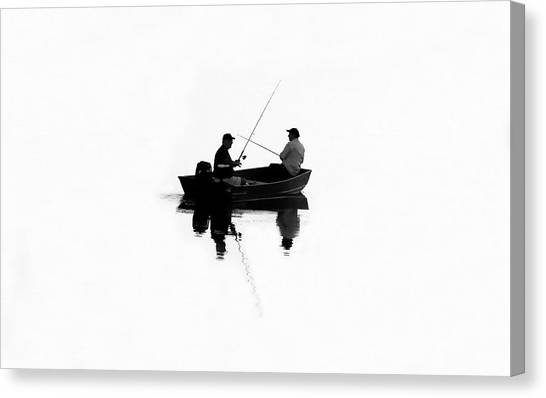 Boa Constrictor Canvas Print - Fishing Buddies by David Lee Thompson