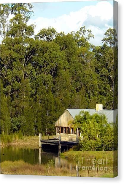Fishing Cabin Canvas Print