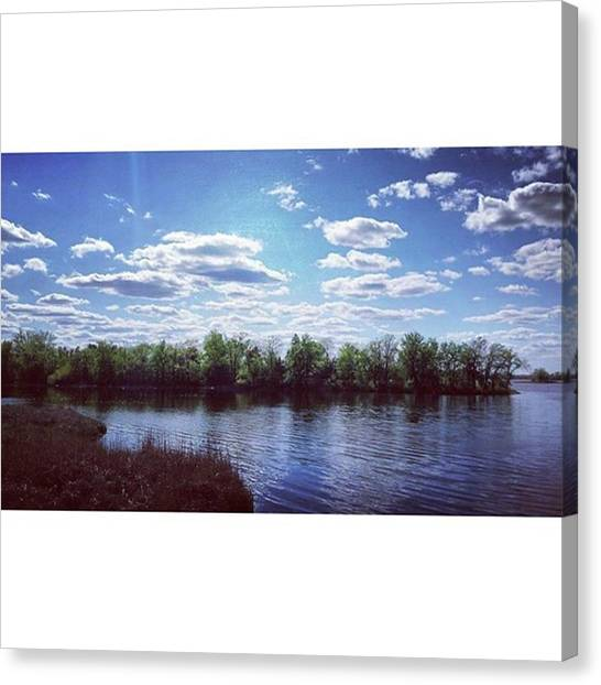 Bass Fishing Canvas Print - Instagram Photo by Mnwx Watcher