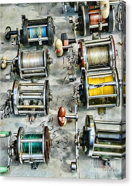 Bass Fishing Canvas Print - Fishing - Fishing Reels by Paul Ward