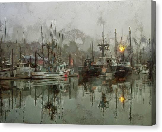 Fishing Fleet Dock Five Canvas Print