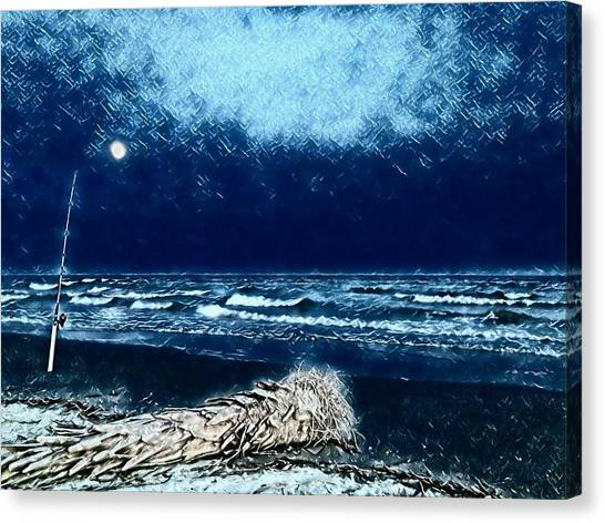 Fishing For The Moon Canvas Print