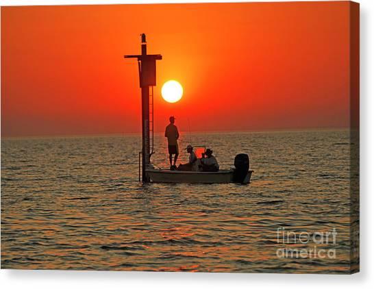Fishing In Lacombe Louisiana Canvas Print