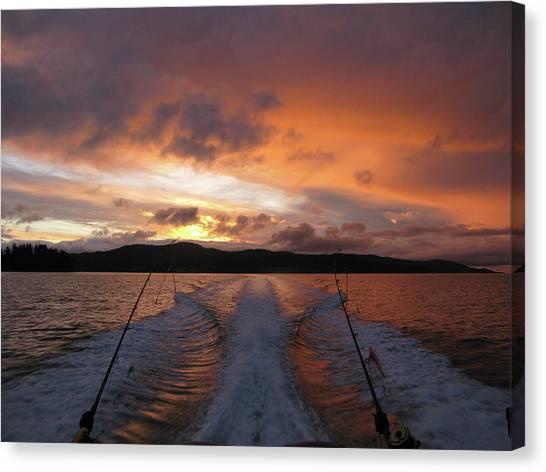 Fishing In The Sun Canvas Print
