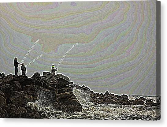 Fishing In The Twilight Zone Canvas Print