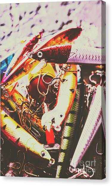 Form Canvas Print - Fishing Lures by Jorgo Photography - Wall Art Gallery