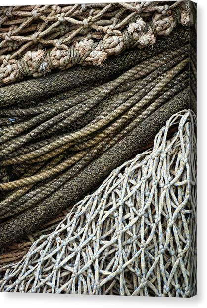 Netting Canvas Print - Fishing Nets by Carol Leigh