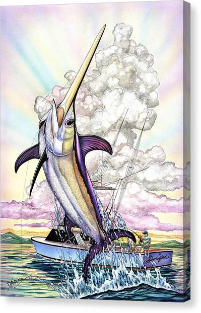 Fishing Swordfish Canvas Print